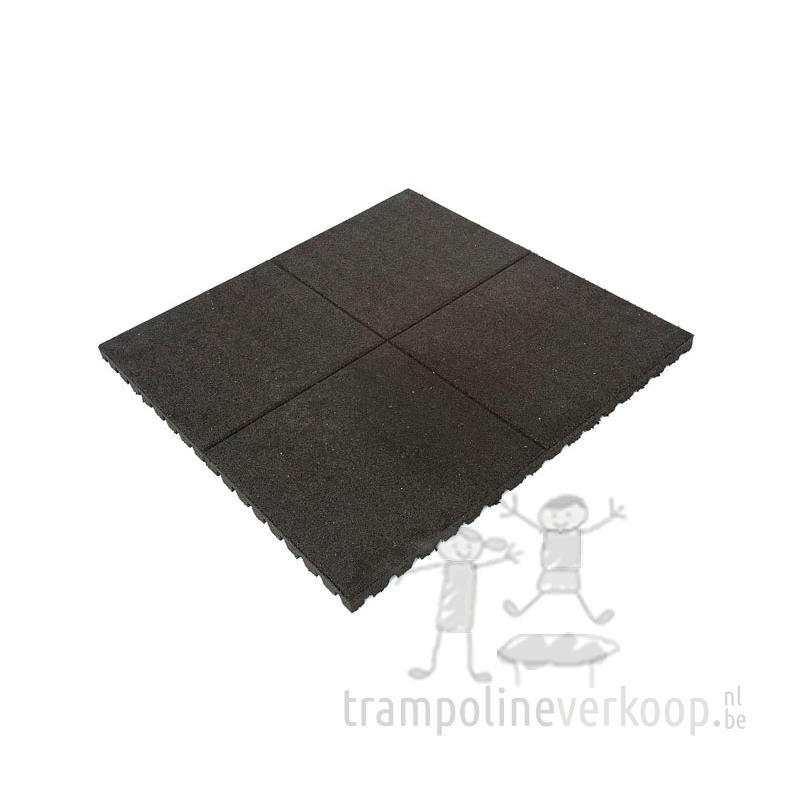 Tuintegels 1m Bij 1m.Etan Rubber Tegel Zwart 1m Trampolines Kopen Bij